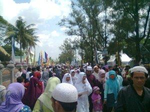 Suasana peringatan maulid nabi Muhammad SAW di Ponpes Attaqwa Pusat Putera Bekasi