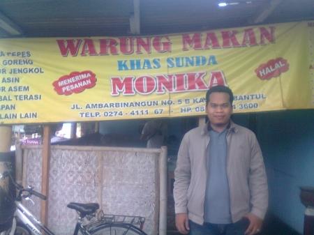 warung makan khas sunda di bilangan Tamantirto Kasihan Bantul