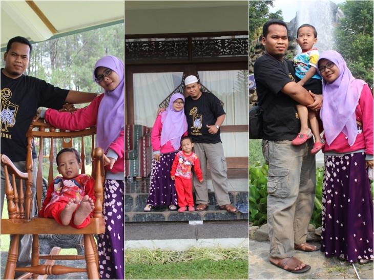 Saya, isteri dan anak saat sesi photo keluarga