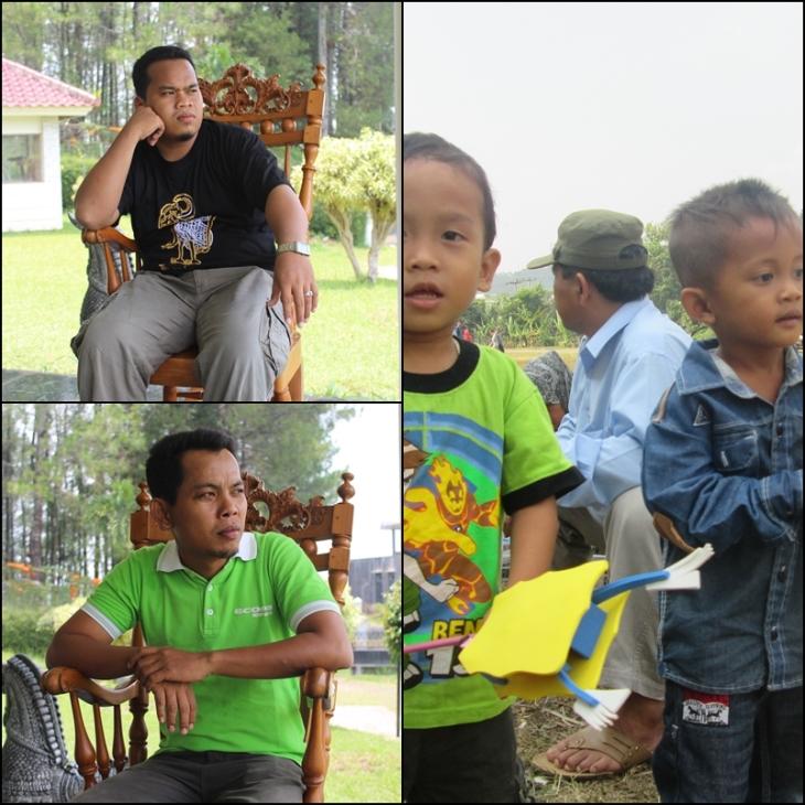 Saya, Syamsul, dan anak kami (Abbad dan Hasbi) dalam satu acara family gathering alumni di puncak Cisarua Bogor