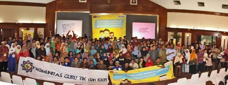 Para peserta kopdar akbar guru blogger nasional bersama Indosat